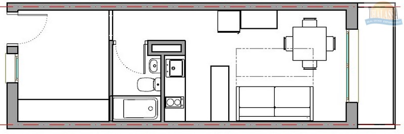 Reserved - Studio - Alberes area - Plan